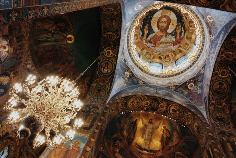 Photo from inside the Church of the Savior on Spilled Blood, Russia