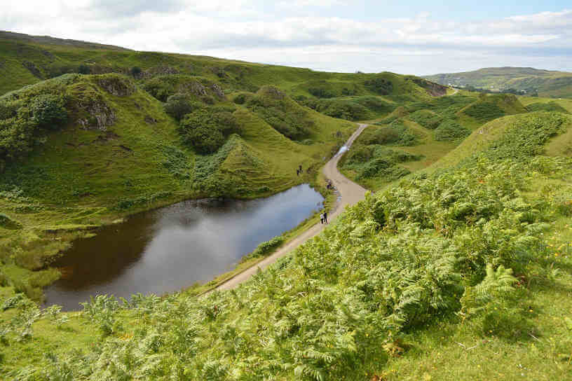 Photo of the Fairy Glen Hills, Isle of Skye Scotland