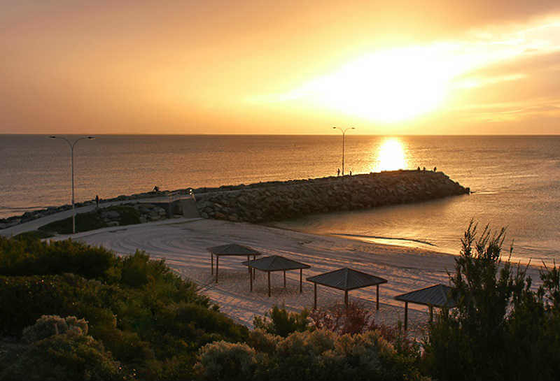 Cottesloe Beach Perth - sunset photo