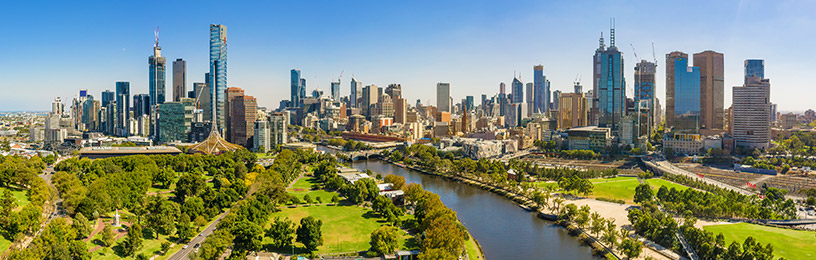 melbourne skyline in australia