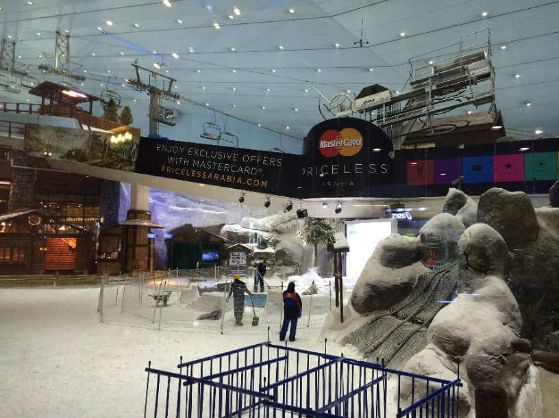 Photo of indoor ski slope at Mall of the Emirates