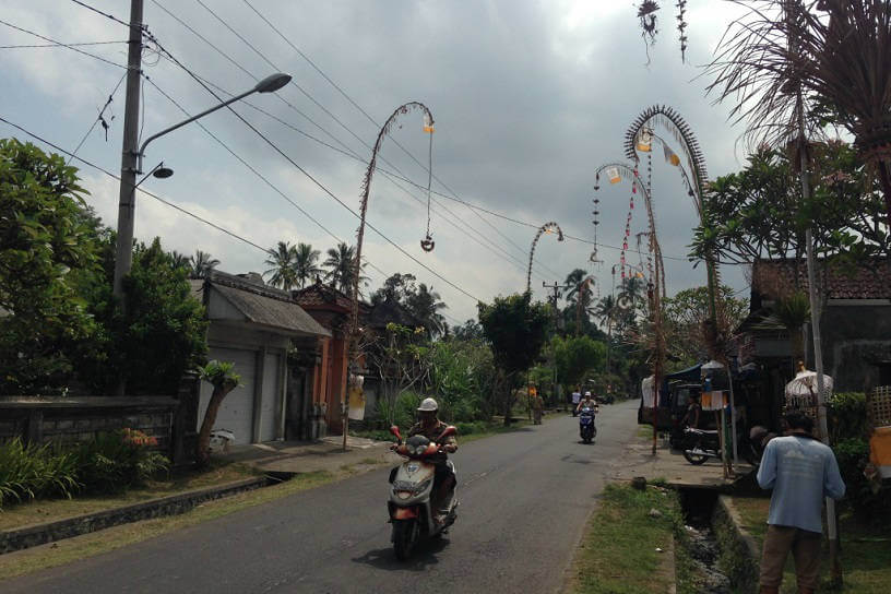 Photo of the local streets in rural Bali