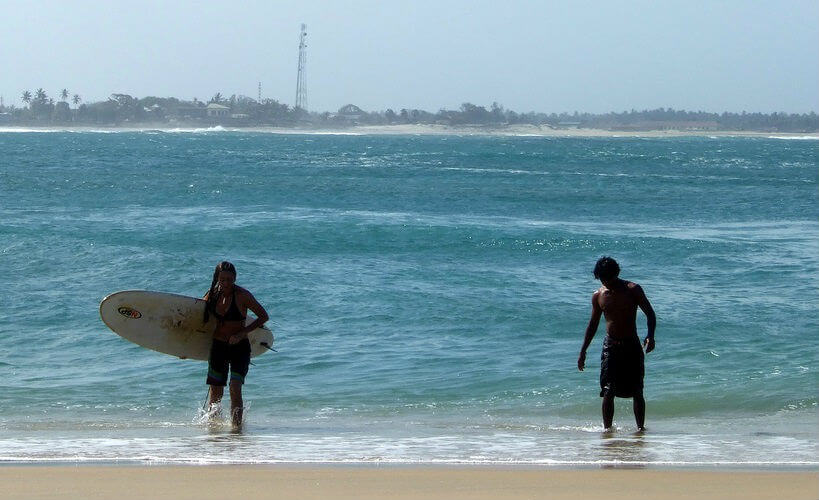 Surfers at Arugam Bay, Sri Lanka
