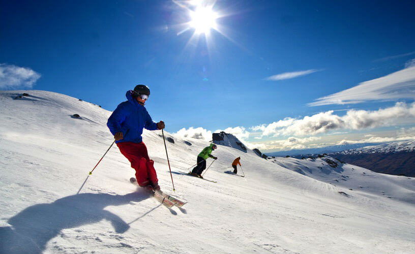 Skiing in Queenstown, New Zealand