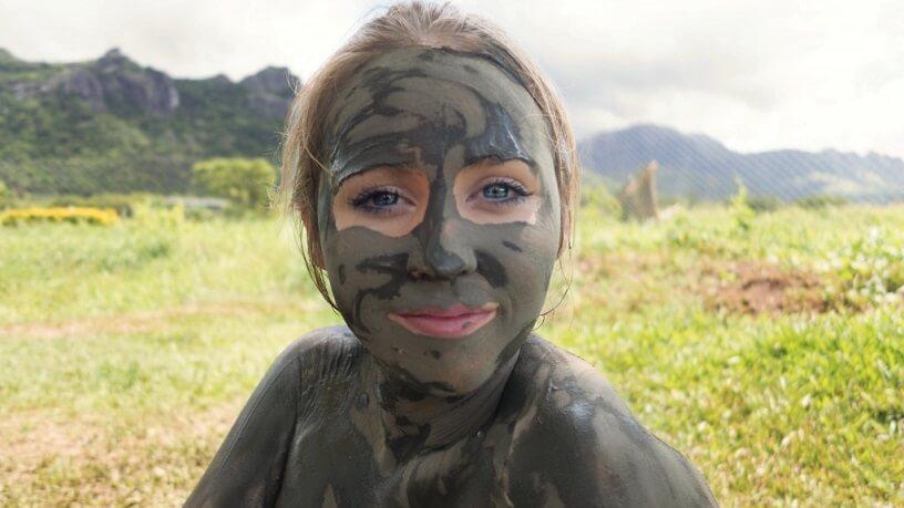 Jess at the Sabeto Mud Pools in Fiji