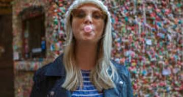 Thumbnail image of Jess at Seattle's Market Theatre gum wall