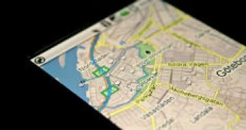 Thumbnail image of a map on a smartphone