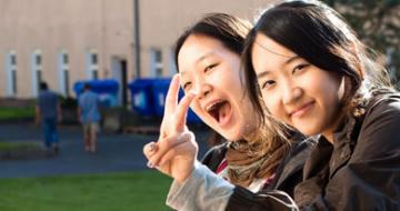 Photo of two international students