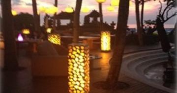 Thumbnail image of resort pool at sunset