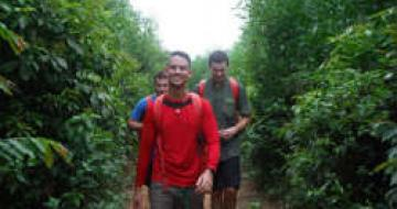 Thumbnail image of trekkers on the last leg of their Vietnamese jungle hike