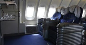 Thumbnail image of business class on a plane