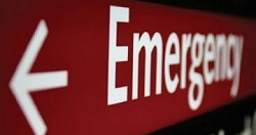 Thumbnail image of hospital emergency sign