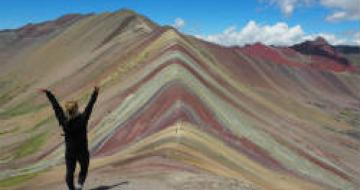 Exploring rainbow mountain