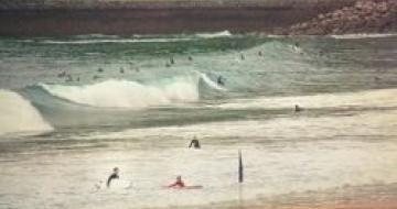 Thumbnail image of surfers at San Sebastian