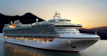 Photo of a large cruise ship