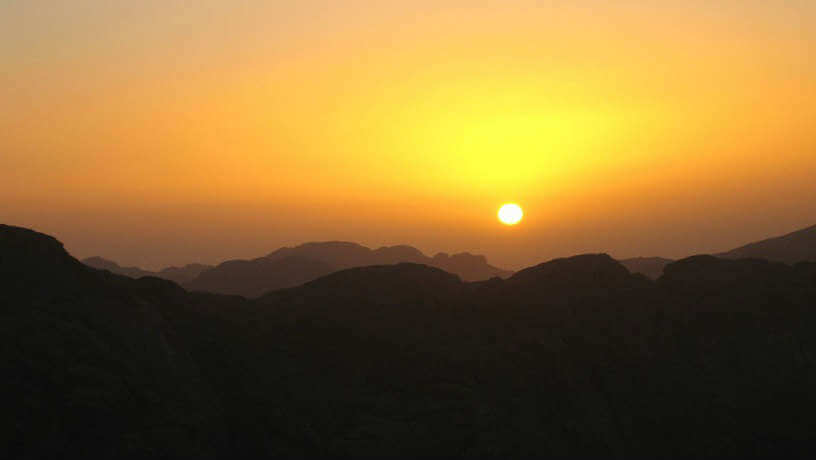 Sunset at Mount Sinai, Egypt
