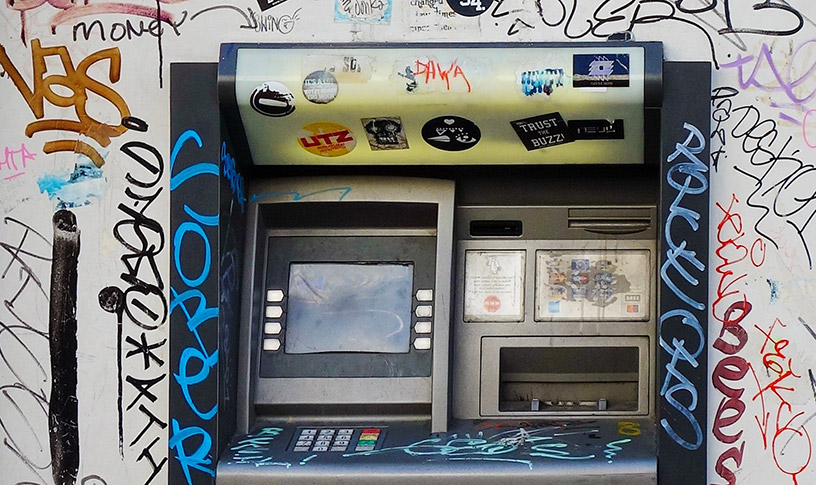 graffiti bank atm
