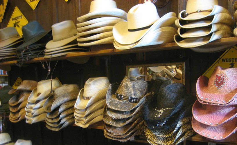 Photo of hats on a shelf